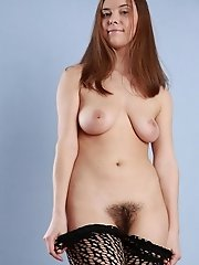 Girl with hairy pussy
